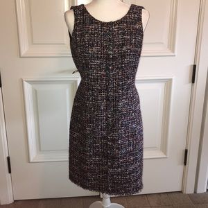 Jacquard multicolored Chanel look by Talbots dress